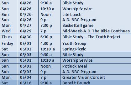 04-26-2015 schedule